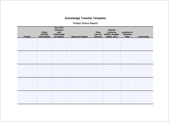 Transition Plan Template  Free Word Excel  Documents