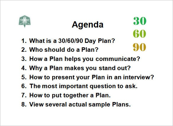 Example Of 90 Day Plan For New Job – Printable Editable Blank