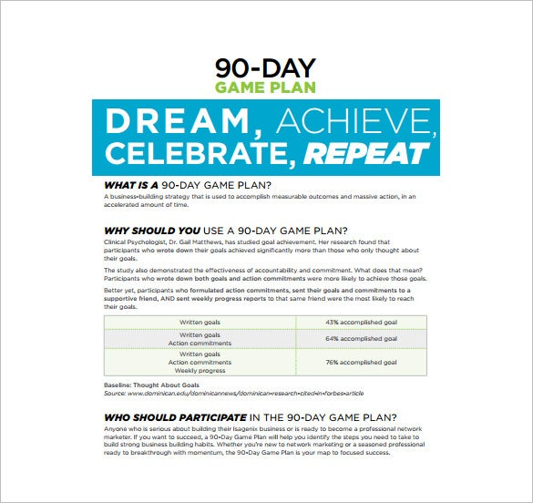 12 30 60 90 Day Plan Templates Free Sample Example Format – 30 60 90 Day Action Plan Template