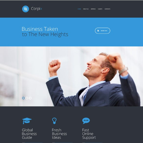 business firm web template