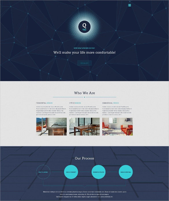 interior furniture store website theme