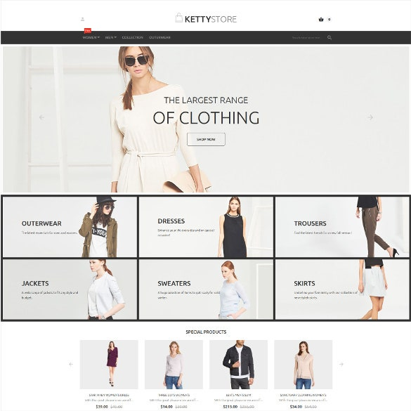 fashion shop magento theme