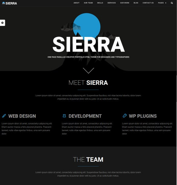 one page parallax portfolio wordpress website theme