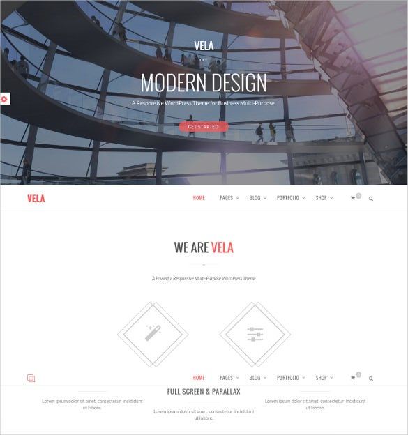 one page responsive business multi purpose template
