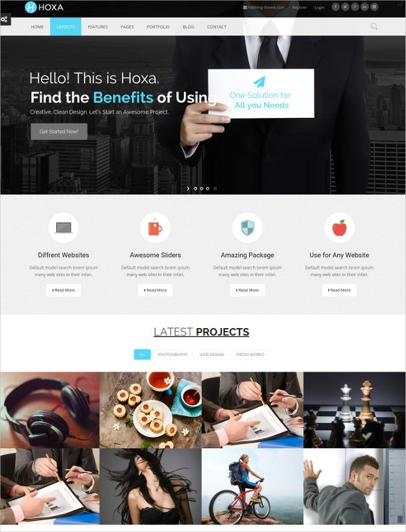 corporate single page website multipurpose wordpress theme