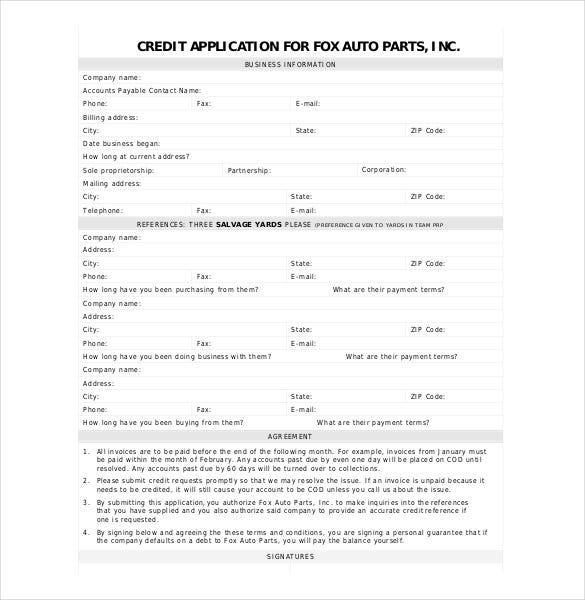 auto-credit-application-form
