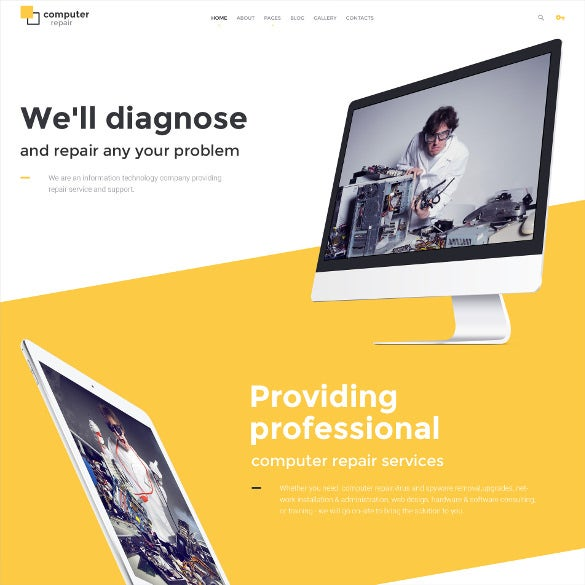 computer repair joomla theme