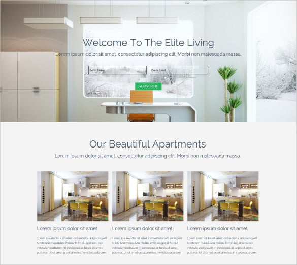 easy real estate parallax muse website template