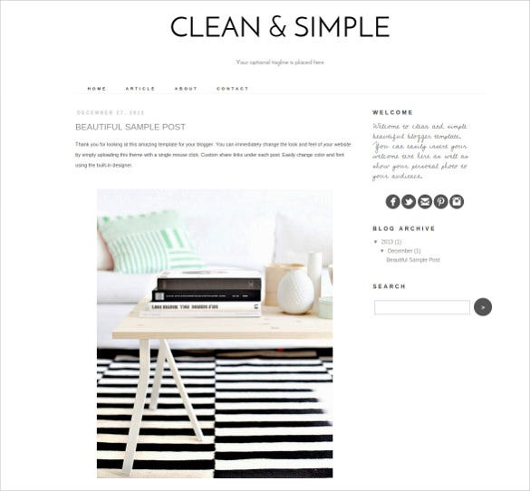 easy personal business website theme