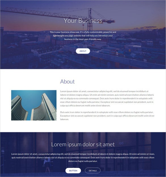 easy construction company html website theme