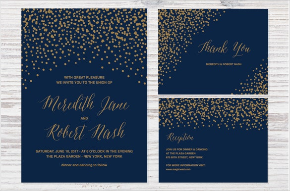 Confetti Wedding Invitation Background
