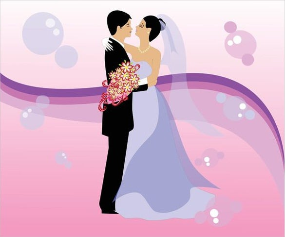 free wedding vector art background download