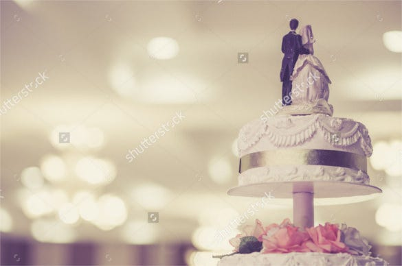 beautiful vintage wedding cake background