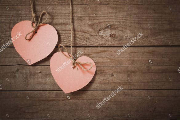 pink heart made of paper wedding background