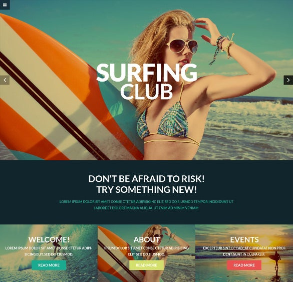 easy extreme sports club wordpress website theme