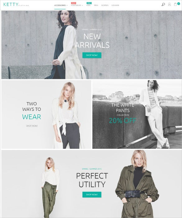 easy instalation clothing magento website theme
