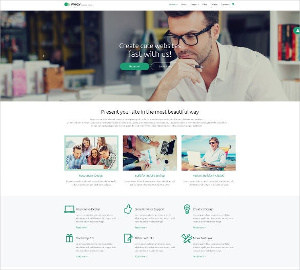 easy customaizable business journal website theme