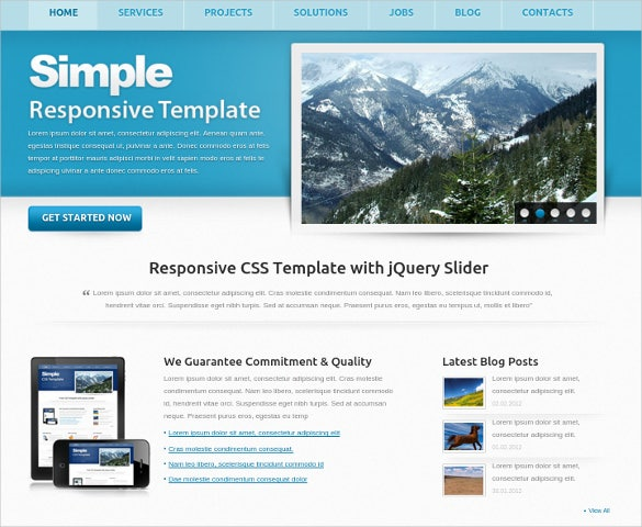 simple free responsive easy website template - Free Website Templates