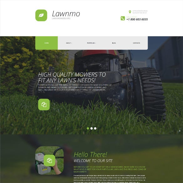 lawn mower parts wordpress theme