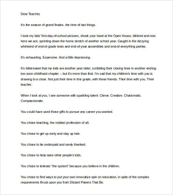 teacher parent letter - Isken kaptanband co