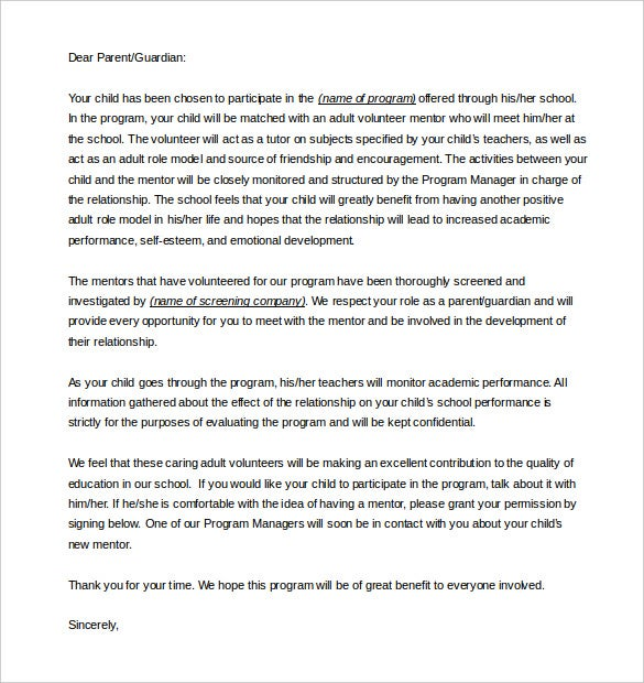 Parent letter template 10 free word pdf documents download download editable permission letter from parents spiritdancerdesigns