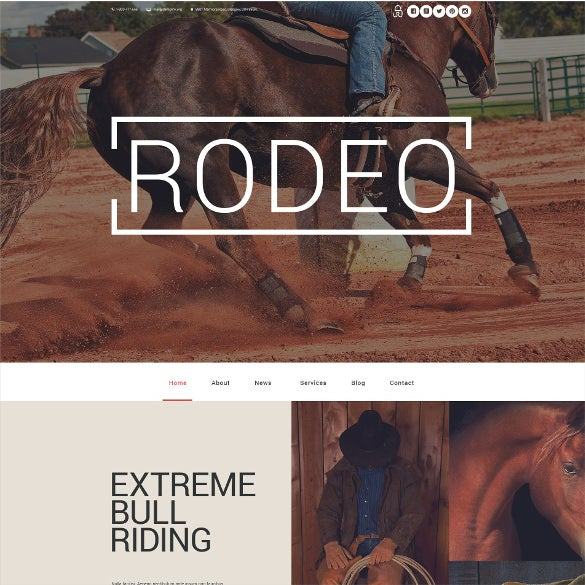 rodeo wordpress theme