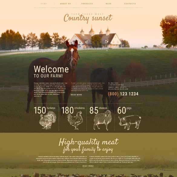 farm wordpress template