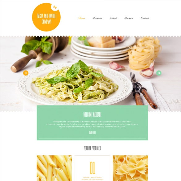 food and beverages wordpress template