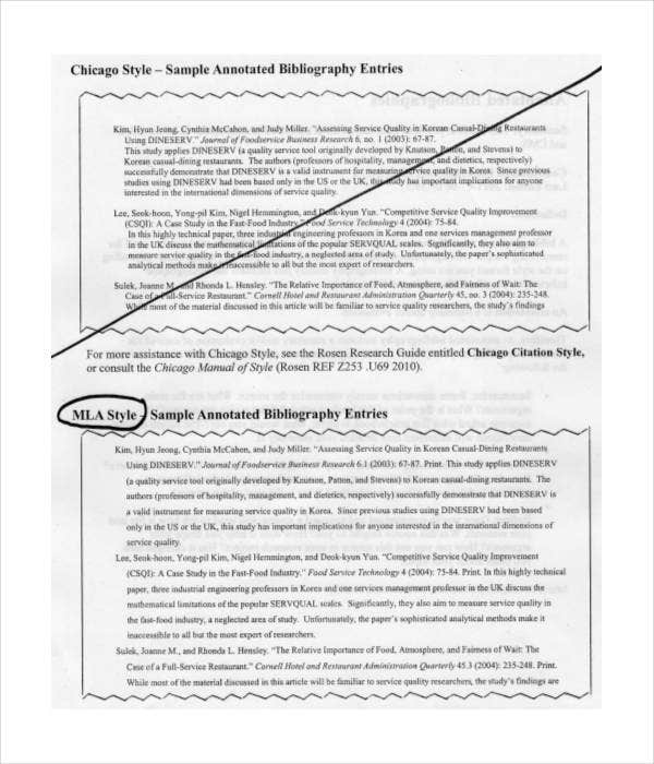 chicago style annotated bibliography generator download