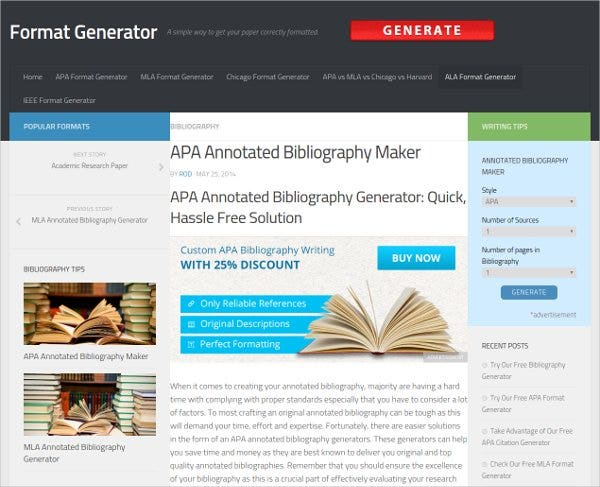 annotated bibliography creator apa Whether you are using mla, apa, turabian or chicago, bibme can help   citation machine can help elearning content developers reference in all 4  the  option to manually cite your references and even add annotations.