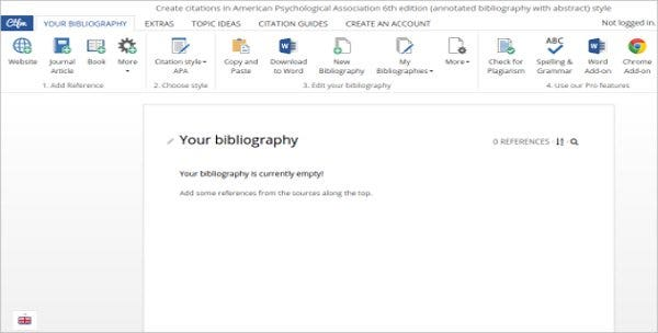 editable annotated bibliography with abstract free
