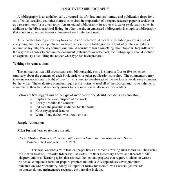 simple exhaustive annotated bibliography pdf forma
