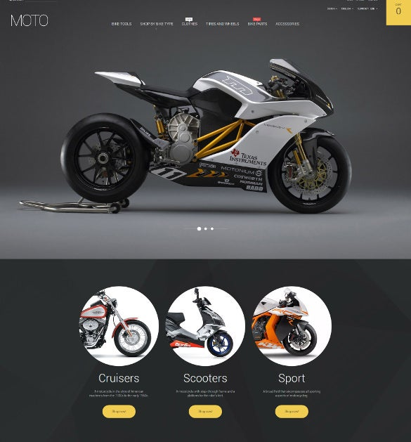 online bike shop responsive prestashop template