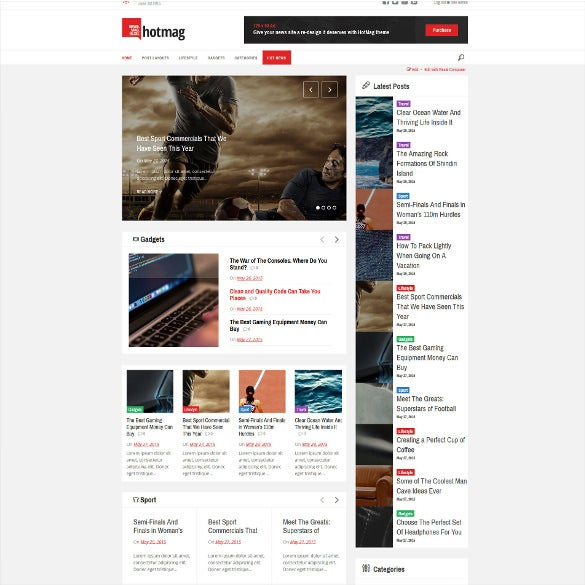 responsive news magazine website template