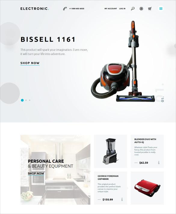online home electronics magento theme