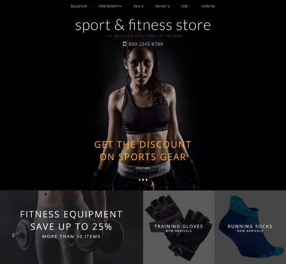 fitness online training opencart template