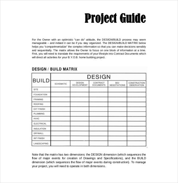 28 sample projection worksheet sample project for House building budget