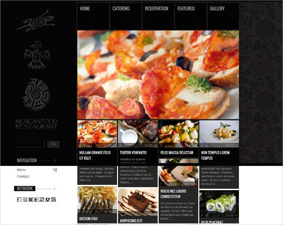 online restaurant cool website template