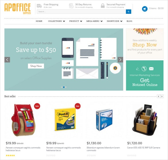 responsibe online shopify business website theme