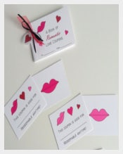 Romantic Love Coupon Book Template