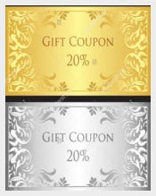 Luxury Birthday Coupon Template