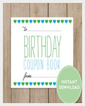 Birthday Coupon Book