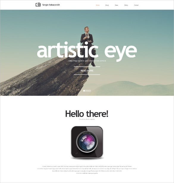 photographer portfolio photo website theme