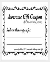 Easy To Print Free Homemade Coupon Template