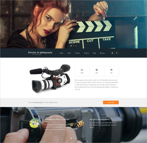 director of photography wordpress website theme