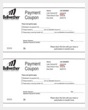 Payment Coupon Template