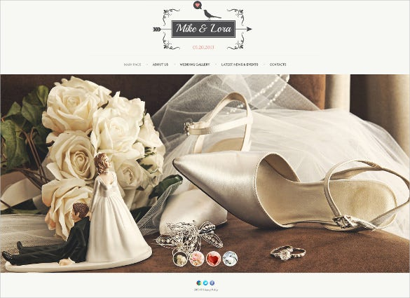 wedding album website theme