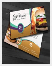 Restaurant Business Coupon Template
