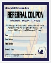 Referral Coupon Template Ideas