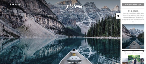 photo gallery photography template